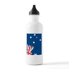 Australian Flag Tilted Sports Water Bottle