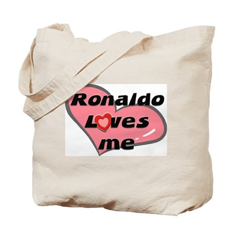 ronaldo loves me Tote Bag