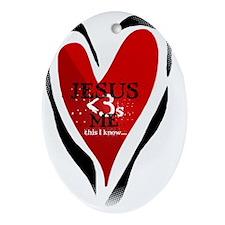 Jesuslovesme Oval Ornament
