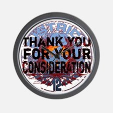 white district 12 thank you for your co Wall Clock