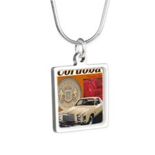 1978 Chrysler Cordoba Desi Silver Square Necklace