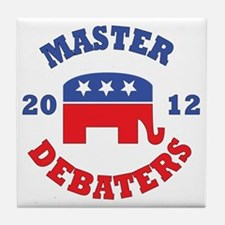 Master-Debaters-Republicans-Button.gi Tile Coaster