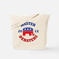 Master-Debaters-Republicans-Button.gif Tote Bag