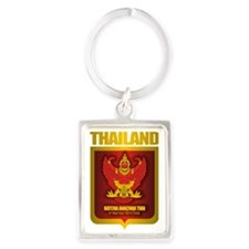 Thai Gold Portrait Keychain