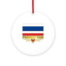 Thailand (Flag 10)2 Round Ornament