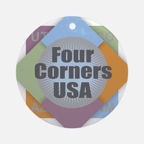 Four Corners Round Ornament
