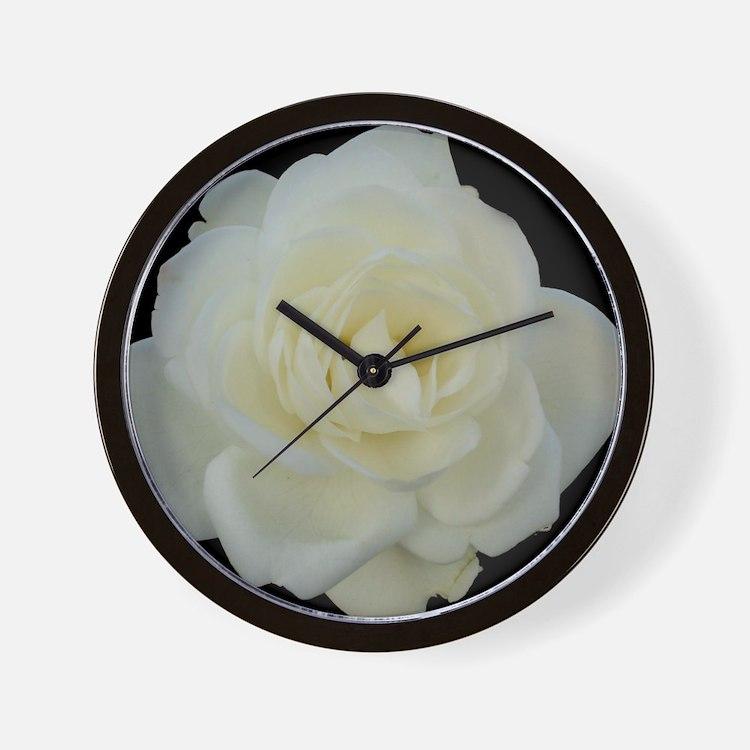 Midnight Rose Wall Clock