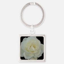 Midnight Rose Square Keychain