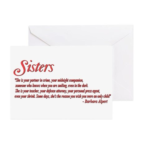 Sisterhood #1 Greeting Cards (Pk of 10)