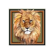 "liontile Square Sticker 3"" x 3"""