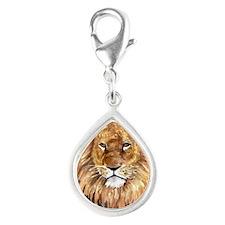 liontile Silver Teardrop Charm