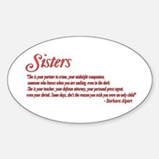 Sisterhood #1 Oval Decal