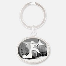 Im Huge In Maine Oval Keychain
