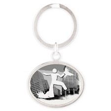 Im Huge In Ohio Oval Keychain