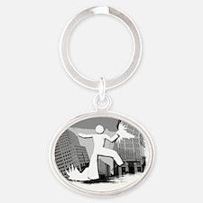 Im Huge In Virginia Oval Keychain