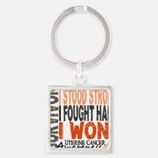 D Survivor 4 Uterine Cancer Square Keychain