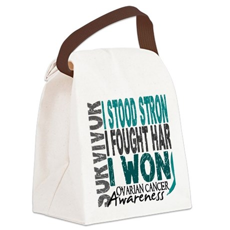 D Survivor 4 Ovarian Cancer Canvas Lunch Bag