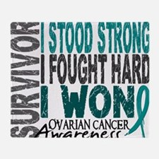 D Survivor 4 Ovarian Cancer Throw Blanket