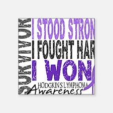 "D Survivor 4 Lymphoma Hod Square Sticker 3"" x 3"""