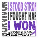 Hodgkins lymphoma Square Car Magnets