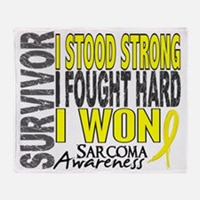 D Survivor 4 Sarcoma Throw Blanket