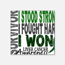 """D Survivor 4 Liver Cancer Square Sticker 3"""" x 3"""""""