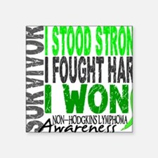 "D Survivor 4 Lymphoma Non Square Sticker 3"" x 3"""