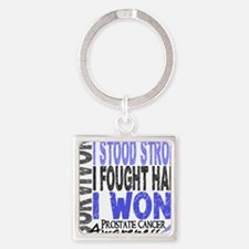 D Survivor 4 Prostate Cancer Square Keychain