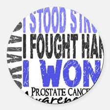 D Survivor 4 Prostate Cancer Round Car Magnet
