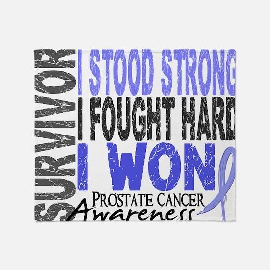 D Survivor 4 Prostate Cancer Throw Blanket