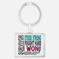 D Survivor 4 Thyroid Cancer Landscape Keychain