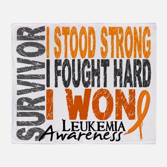D Survivor 4 Leukemia Throw Blanket