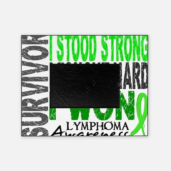 D Survivor 4 Lymphoma Picture Frame