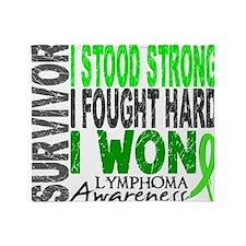 D Survivor 4 Lymphoma Throw Blanket