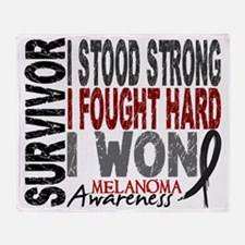 D Survivor 4 Melanoma Throw Blanket