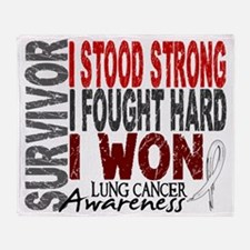 D Survivor 4 Lung Cancer Throw Blanket