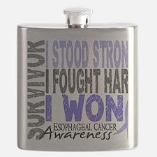 D Survivor 4 Esophageal Cancer Flask