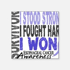 "D Survivor 4 Esophageal Can Square Sticker 3"" x 3"""