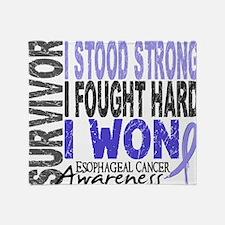 D Survivor 4 Esophageal Cancer Throw Blanket