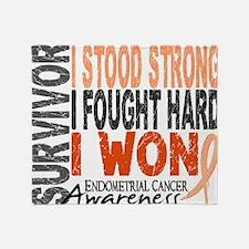 D Survivor 4 Endometrial Cancer Throw Blanket