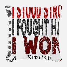 D Survivor 4 Stroke Woven Throw Pillow
