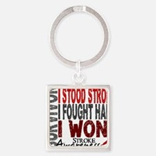 D Survivor 4 Stroke Square Keychain