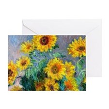 Bag Monet Sunf Greeting Card