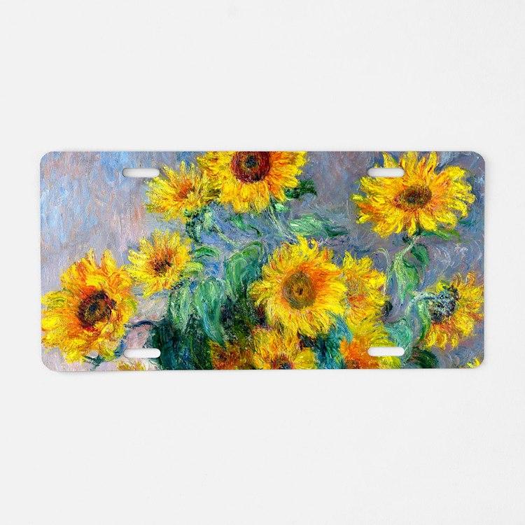 Bag Monet Sunf Aluminum License Plate