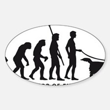 Evolution DOG B Sticker (Oval)