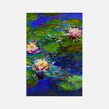 441 Monet LilyPads Rectangle Magnet