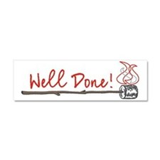 well done dark Car Magnet 10 x 3