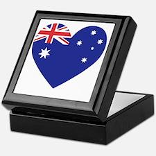 Australian Heart Keepsake Box
