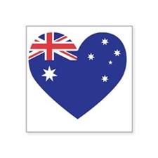 "Australian Heart Square Sticker 3"" x 3"""