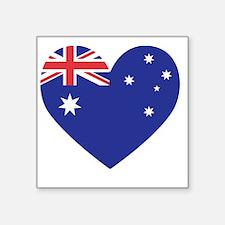 "Australian Heart Square Sticker 3"" x 3"""